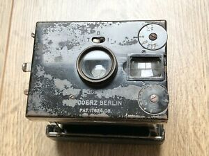 Goerz Vest Pocket Tenax Plate Camera With A Number Of Plates - DEFECT
