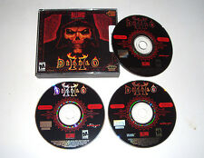 Diablo II PC Windows Mac CD-ROM Game 2000 Blizzard 3 Discs Includes Key