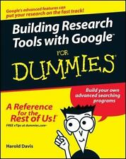 Building Research Tools with Google For Dummies by Davis, Harold