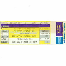 Godsmack Full Concert Ticket Stub Pensacola Florida 8/5/01 Fairgrounds Rare