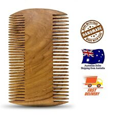 Hand Made Teak Wood Beard Comb Double-sided Anti-static Hair Care Tool