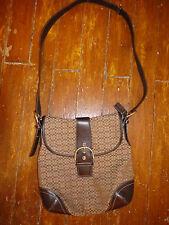 Authentic COACH Brown & Khaki Adjustable Shoulder Bag. EUC