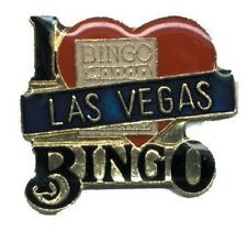 Hat Lapel Push Pin Tie Tac City Las Vegas Bingo NEW
