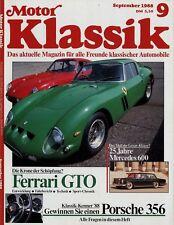 2219MK Motor Klassik 1988 9/88 Auto Union 1000 Sp Mercedes 600 Kawasaki 750 H2