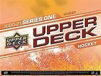 2020-21 upper deck series 1 hockey hobby box break - pick your team - presale