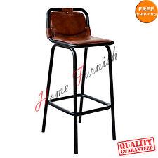 Bar Stool Leather Seat Restaurant Bar Stools Counter Stools
