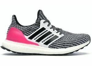 NEW Adidas Ultraboost 4.0 J Black Pink White Womens sz 7 B43508 Girls sz 6Y nmd