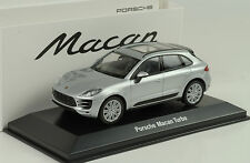 2015 PORSCHE MACAN Turbo Silver Argento 1:43 Welly Museo Map