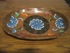 VINTAGE NORWEGIAN FOLK ART ROSEMALING HAND PAINTED WOODEN TRAY!   TOLEWARE