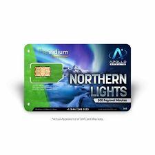 Iridium Northern Lights 200 Minute Prepaid Satellite Phone Sim Card