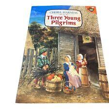 1992 Vintage Book Three Young Pilgrims, Cheryl Harness