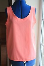 Jaques Vert size 14 Orange Polyester scoop neck sleeveless waist length top