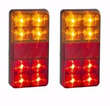 *TRAILER 2 X STOP/TAIL/INDICATOR LAMPS WITH REFLECTOR 12 VOLT  LED AUTOLAMPS