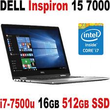 """PRO 2017 DELL Inspiron 15 7000 7th Gen i7-7500u 16GB 512GB SSD 15.6"""" FHD Backlit"""