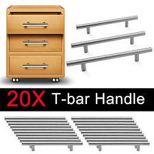 20x12MM Satin Brushed Steel T Bar Handles Kitchen Door Furniture Cupboard/Drawer