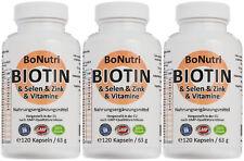 SUPERSPARPACK Biotin Selen Zink Vitamine 360 Kapseln 6 Monate Haare Haut Nägel