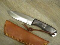 KNIFE COLTELLO 22,5 CM SPORTIVO DA CACCIA PESCA SOPRAVVIVENZA FODERO cuoio01