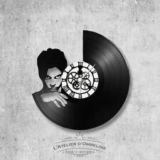 Horloge en disque vinyle 33 tours thème Prince