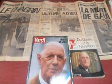 lot de journaux sur la mort de Charles de Gaulle ( ref 17 )
