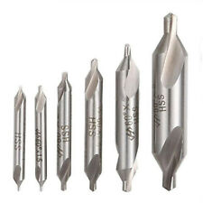 6x 60°HSS Center Drill Bit Combined Countersink Lathe Mill Tackle Tool Set 1-5mm
