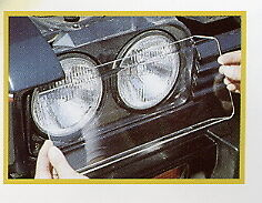 Clear Protective Headlamp Covers ~ Ford Capri Mk 3 NEW pair A002