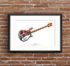 Mani's Rickenbacker 4005 Bass  ART POSTER A2 size