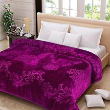 Queen Floral Mink Blankets Bedding Ultra Soft Flannel Throw