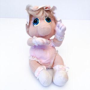 Miss Piggy Muppet Babies Vintage Plush Soft Toy Teddy 1985 Hasbro Softies 80's