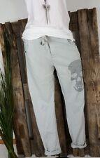 NEU ITALY  JOGPANTS HOSE SWEAT PANTS 💀 SCULL 💀 TOTENKOPF NIETEN GRAU 38-42