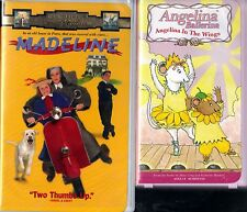 Madeline (VHS, 1998, Clam Shell) & Angelina Ballerina - In the Wings (VHS, 2002)