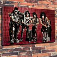 """Kiss Printed Art Canvas Picture A1.30""""x20""""~Deep 30mm Frame Heavy Metal Rock"""