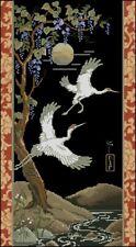 Flying Cranes Banner cross stitch chart