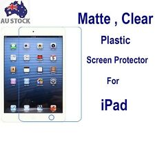3x Matte Clear Plastic Screen Protector for Apple iPad 2 3 4