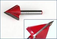 22mm Steel CNC 60Deg Engraver Woodwork Cut Cutter 3D Router V Groove Drill Bit