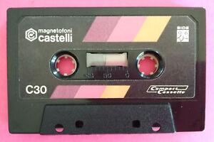 MC Musicassetta MAGNETOFONI CASTELLI C30 30 Vintage Compact Cassette tape USATA