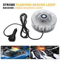 10 LED Yellow Car Strobe Emergency Beacon Light Bar Strobe Flashing Warning Lamp