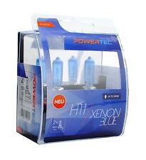Coppia Lampade Lampadine Alogene H11 55W 12v XENON BLUE PowerTec Xeno Bianche