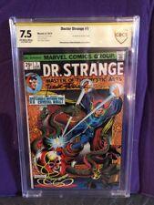 DOCTOR STRANGE #1 CGC VF-(7.5) *SIGNED FRANK BRUNNER* 1ST APP SILVER DAGGER