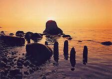 AK: Insel Rügen, Sonnenaufgang an der Kreideküste