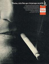 PUBLICITE ADVERTISING 035  1967  WINSTON  cigarettes