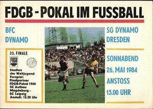FDGB-Pokal Finale 83/84 BFC Dynamo - SG Dynamo Dresden, 26.05.1984 in Berlin