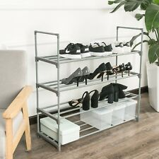 4 Tier Shoe Rack Shoes Shelf Storage Organizer Closet Space Saver Sneakers Boots