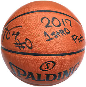 DE'AARON FOX SIGNED SACRAMENTO KINGS NBA REPLICA BASKETBALL PSA/DNA