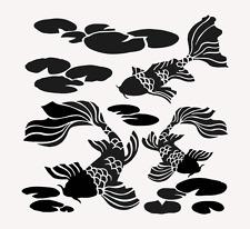 KOI FISH STENCIL FISH POND TEMPLATES CRAFT PAINT ART STENCILS BIG TEMPLATE NEW