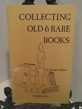 SIGNED Collecting Old and Rare Books by Ronald Romano What Where Glossary Terms