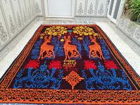 1985 Vintage Handmade Berber Rug Azilal Wool Carpet Moroccan Beni Ourain Rug