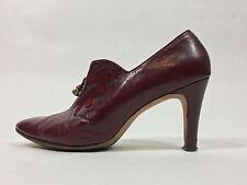 Vintage 1970s Burgundy red leather w/suede Adam Burke Miller's heels size 7.5-8