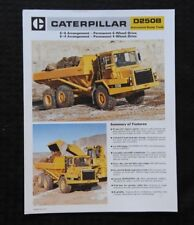 1985 CATERPILLAR No. D250B ARTICULATED DUMP TRUCK CATALOG SALES BROCHURE NICE