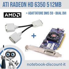 Scheda Video AMD ATI Radeon HD6350 512mb + ADATTATORE DMS 59 - Dual DVI Graphic