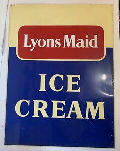 Original Genuine 1960s Lyons Maid Ice Cream Sign Retro Perfect Authentic Prop
